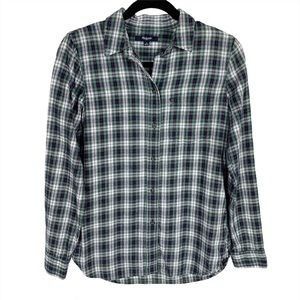 Madewell Slim Boyfriend Plaid Flannel Shirt Sz S
